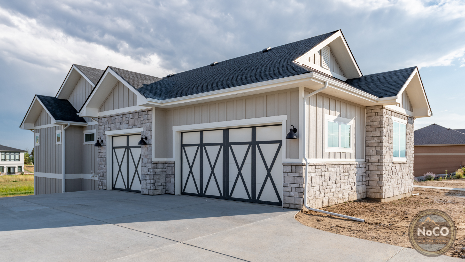 colorado custom home garage doors