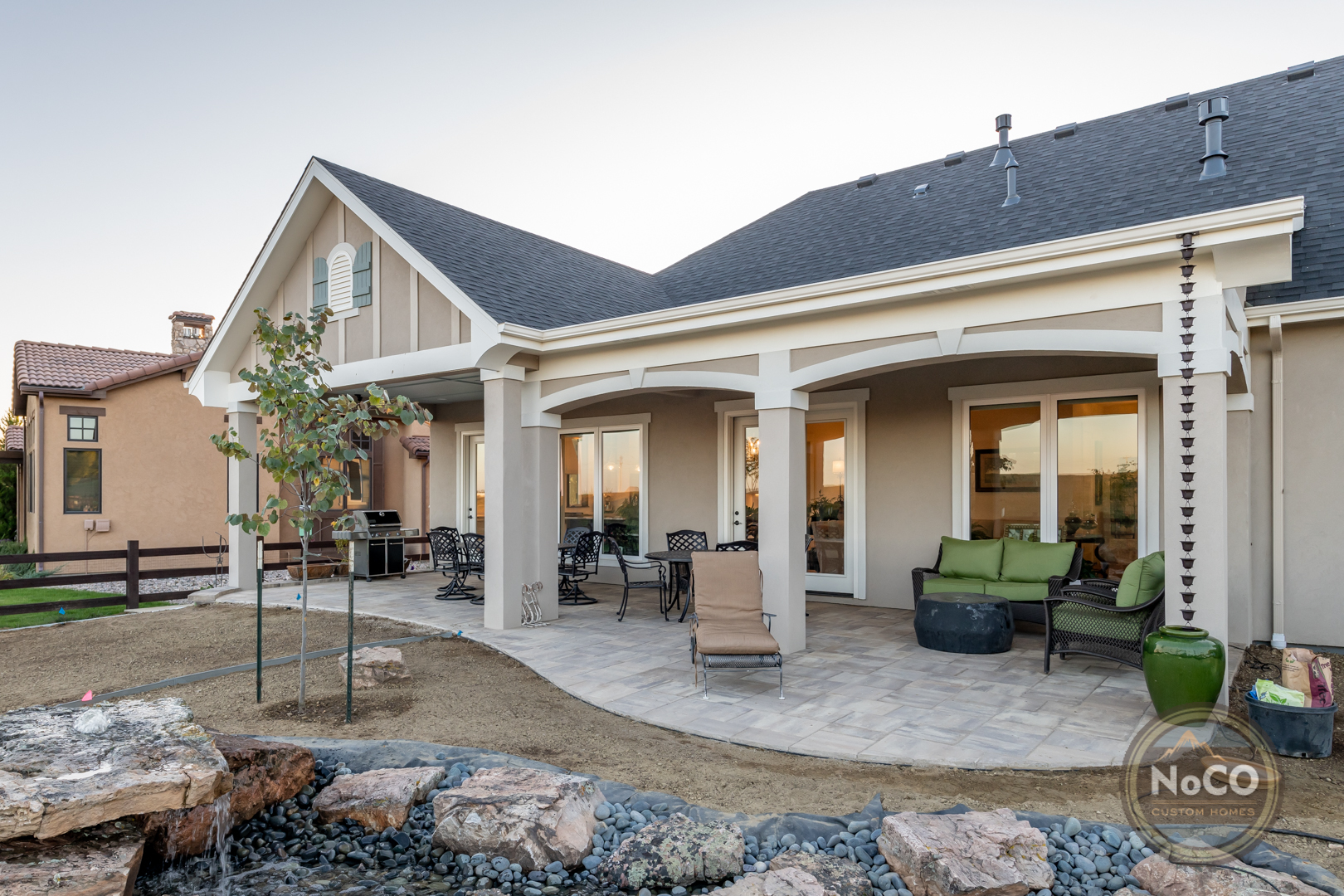 colorado custom home patio