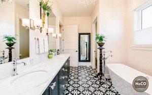 colorado custom home tile floor