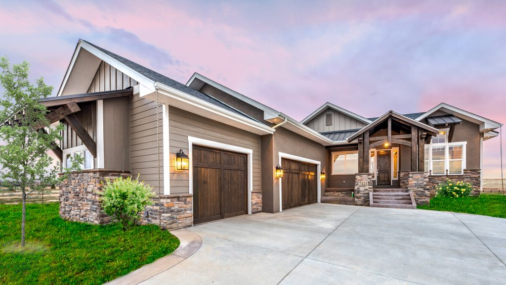 custom home curb appeal