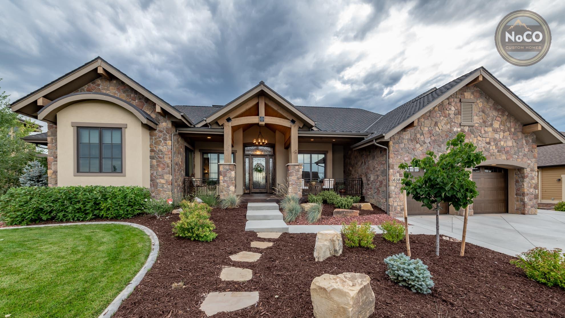 colorado custom home stone exterior