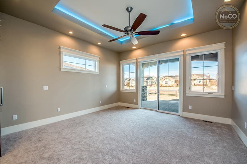colorado custom home bedroom