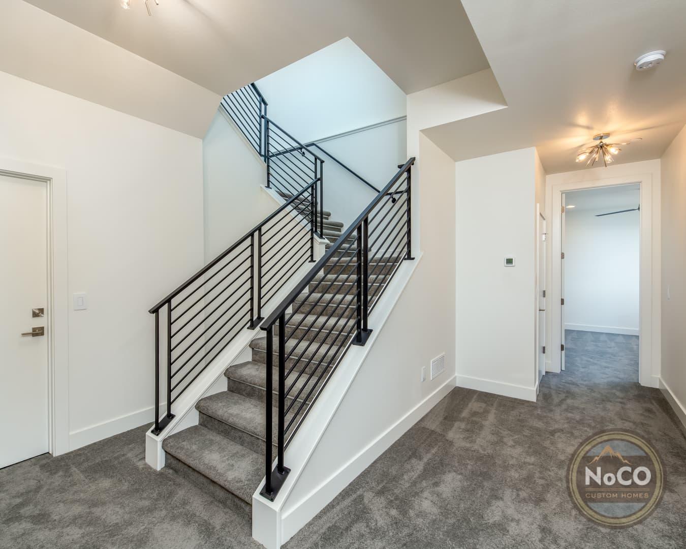 colorado custom home basement stairs