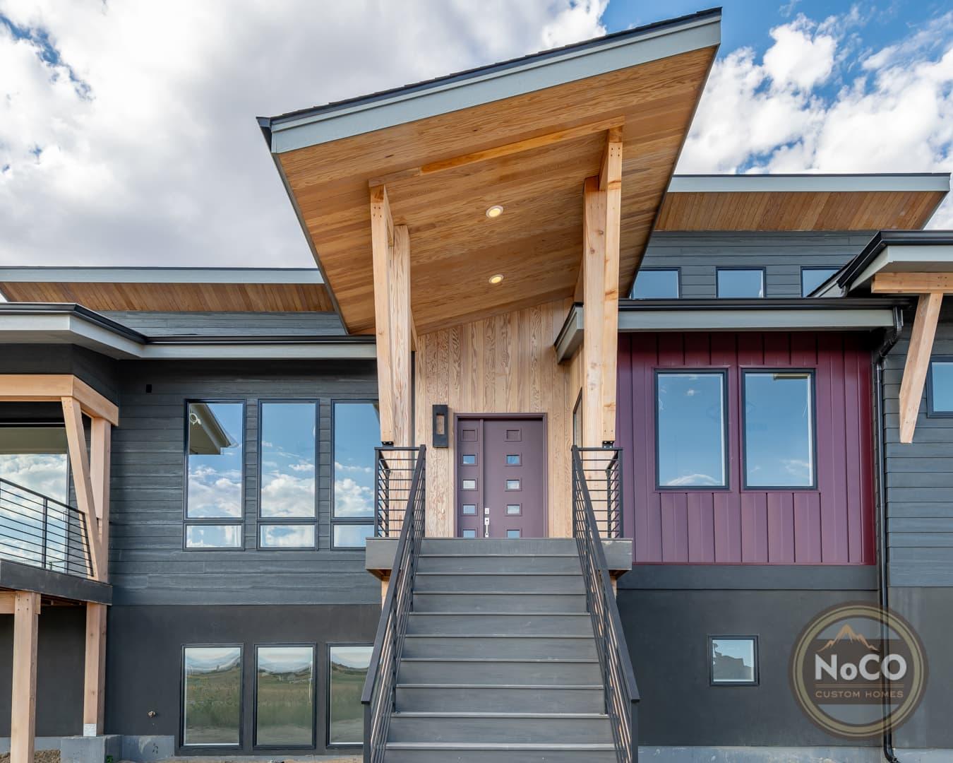 colorado custom home contemporary exterior front door