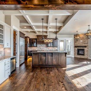 colorado custom home kitchen hardwood floors