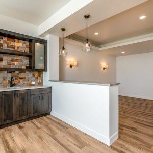 colorado custom home basement bar