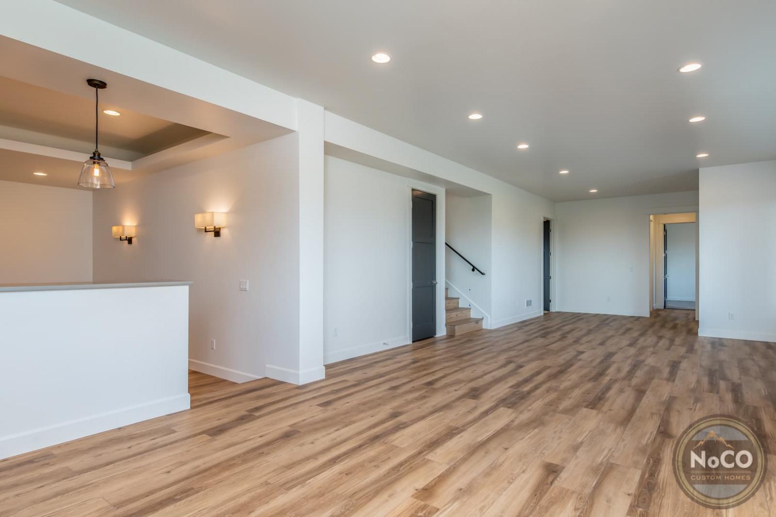colorado custom home finished basement