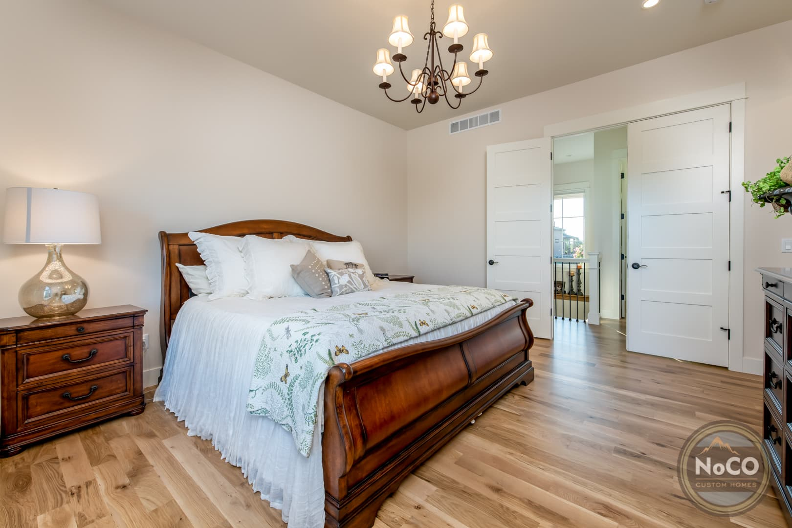 colorado custom home master bedroom
