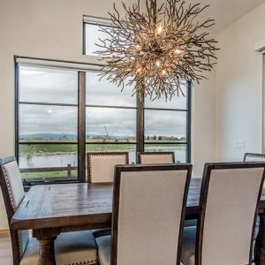 colorado custom home dining room