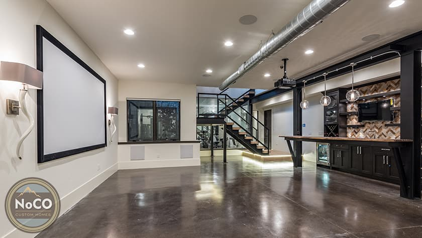 colorado custom home basement home theater