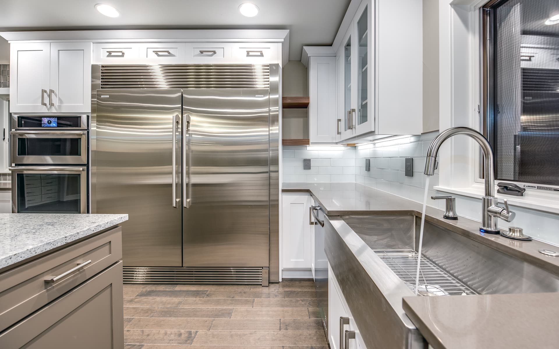 colorado custom home stainless steel kitchen