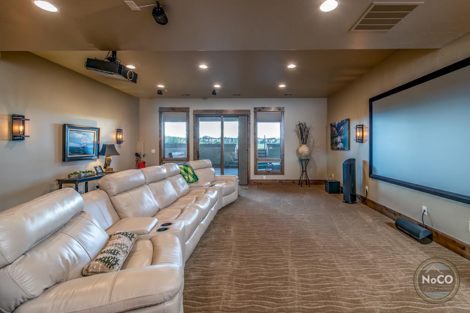 colorado custom home theater