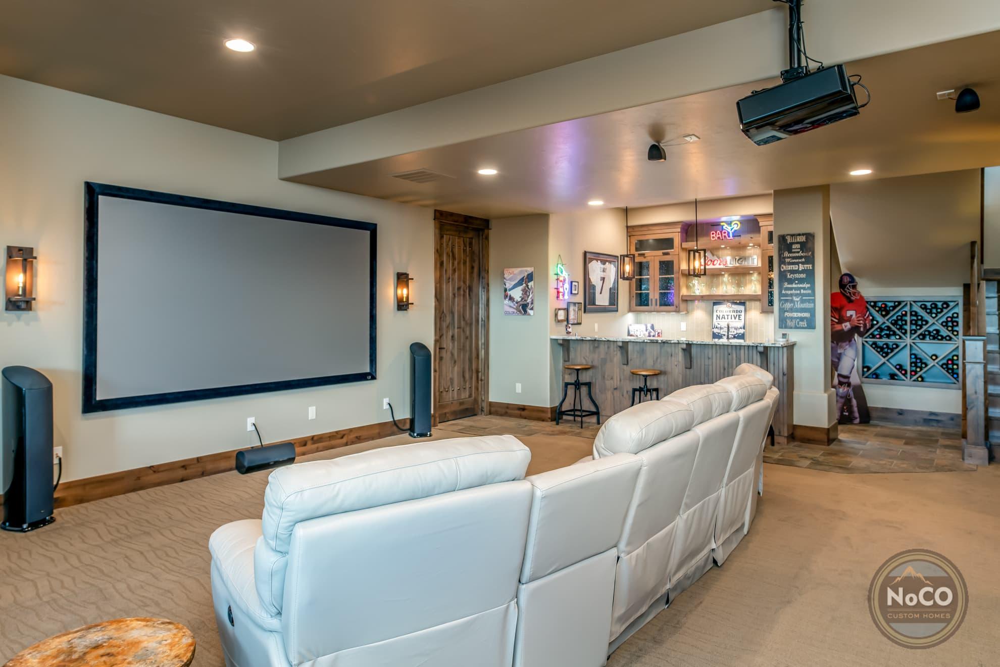 colorado custom home home theater