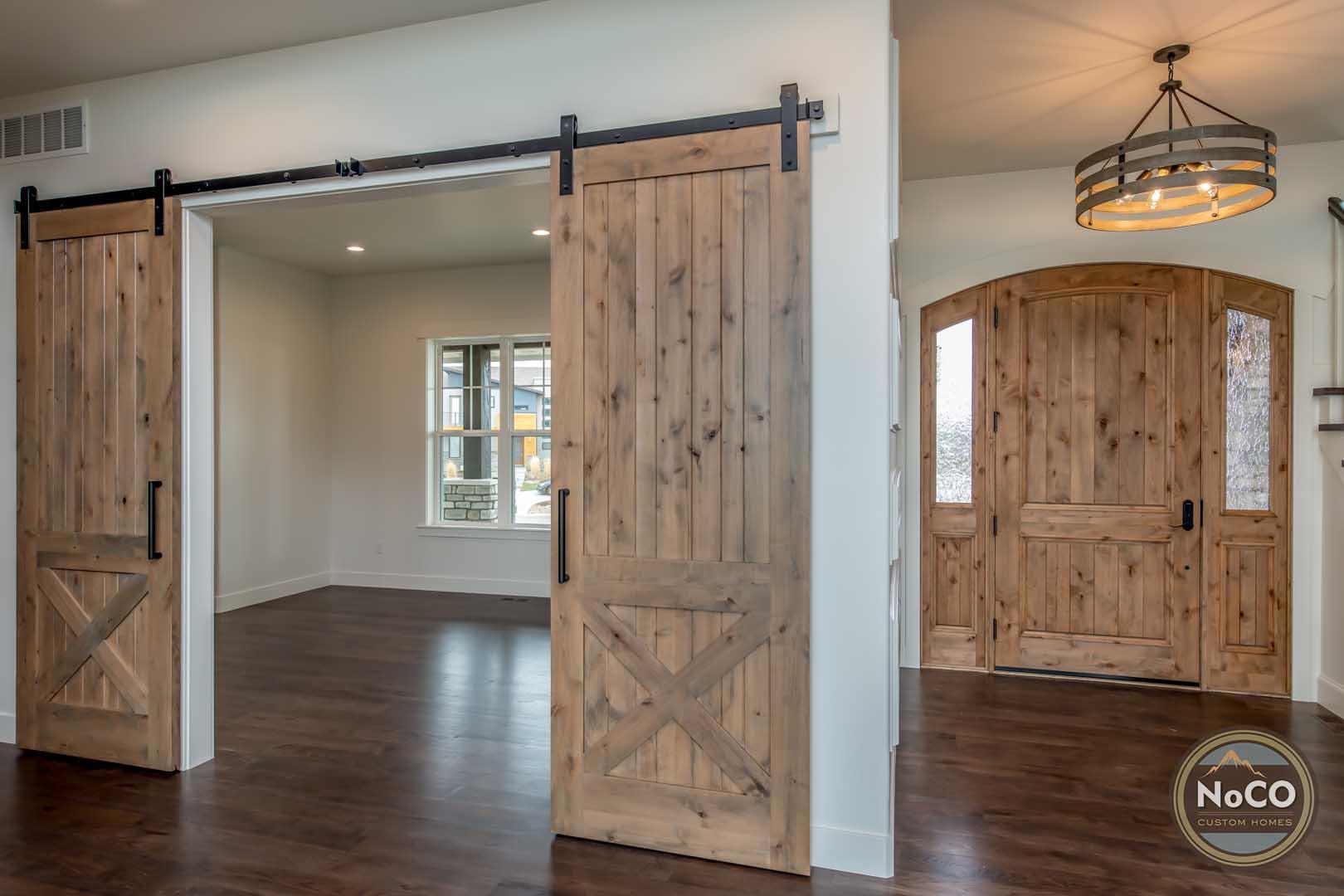 colorado custom home barn doors