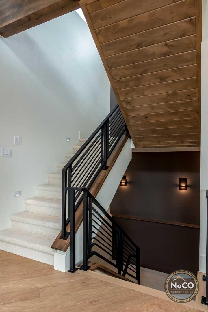 colorado custom home staircase