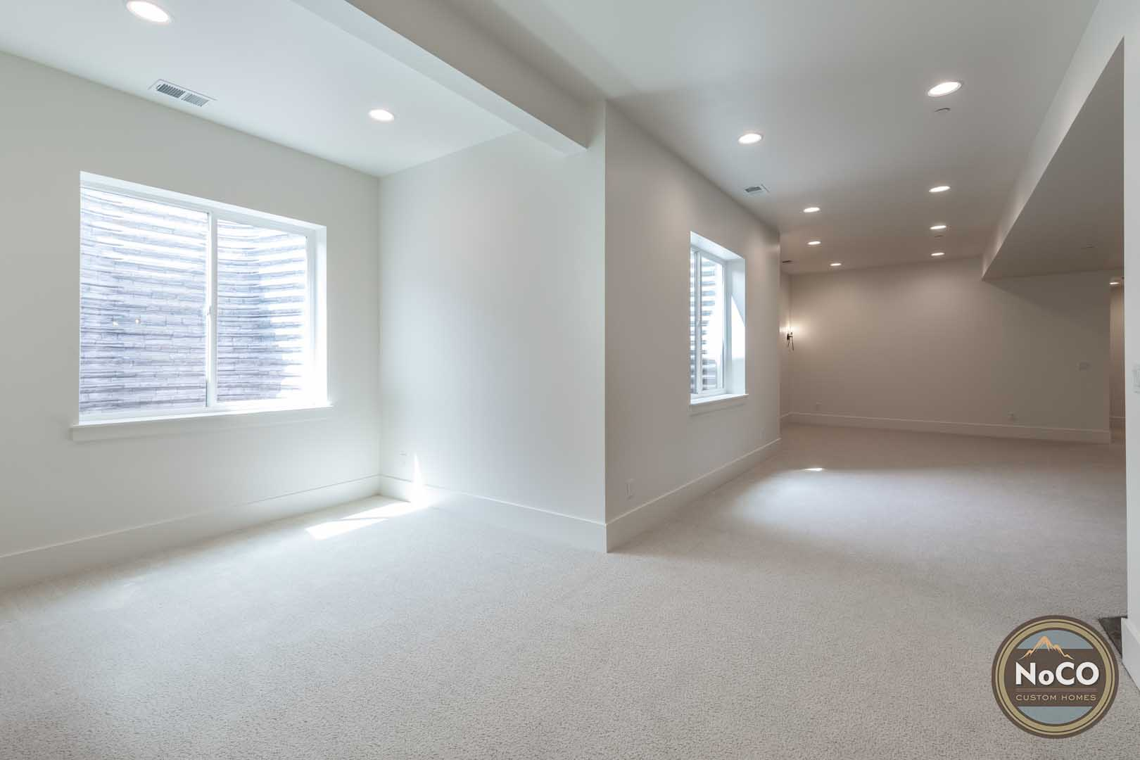 colorado custom home basement