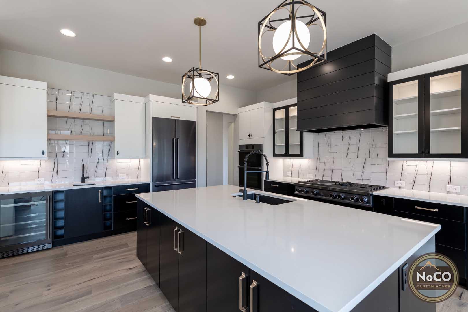 colorado custom home kitchen island