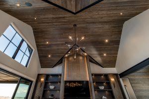 colorado custom home vaulted ceiling