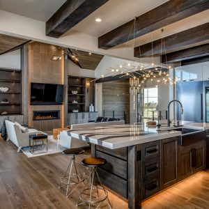 colorado custom home open concept kitchen
