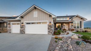 custom home garage door