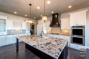colorado custom home granite kitchen countertop