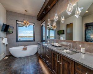 bathroom pendant lights colorado custom home