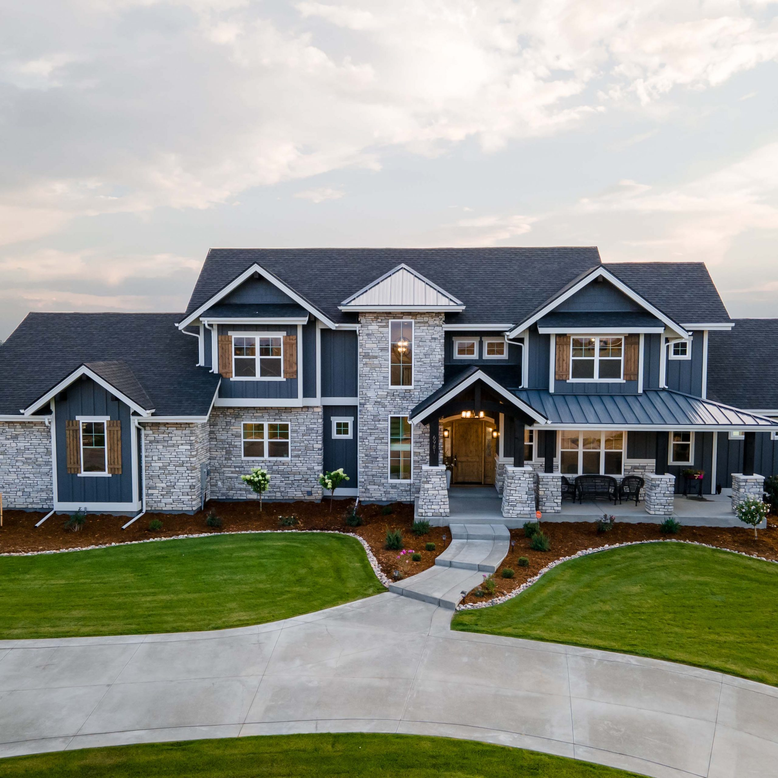tailored transitional custom home