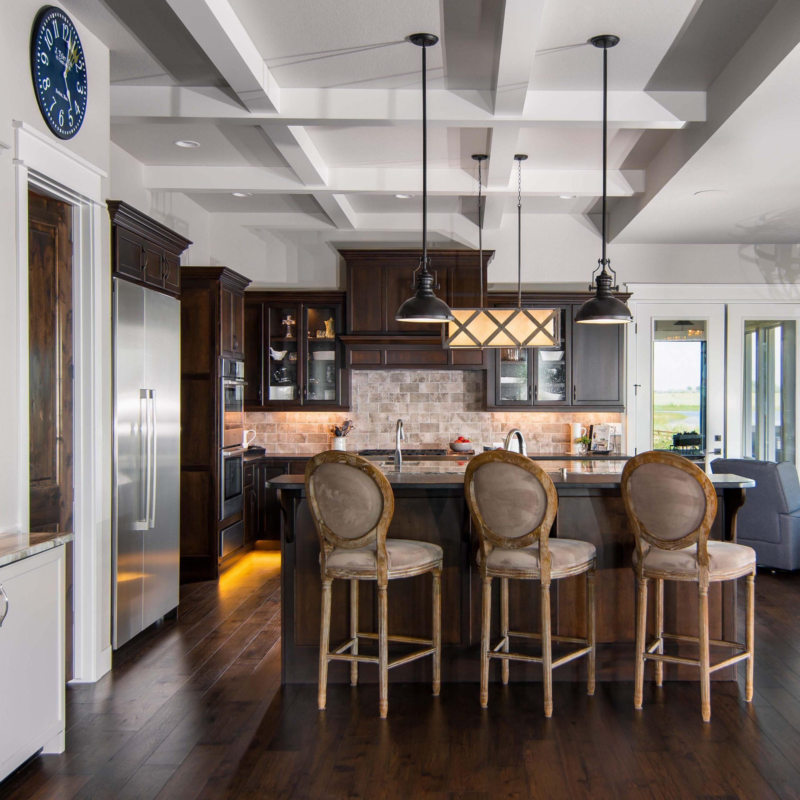 colorado custom home kitchen