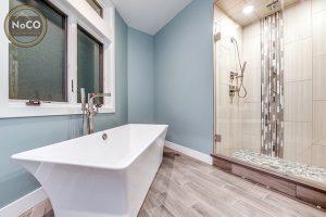 frameless shower colorado custom home bathroom
