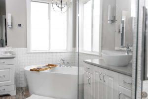 Freestanding bathtub colorado custom home bathroom
