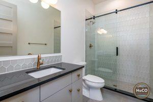 gold bathroom fixtures faucet colorado custom home