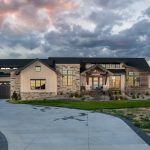 colorado custom home exterior lakeside grandeur
