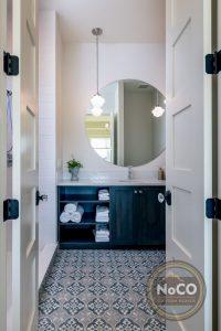 colorado custom home bathroom floor tile