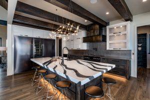 center island chef's kitchen colorado custom home