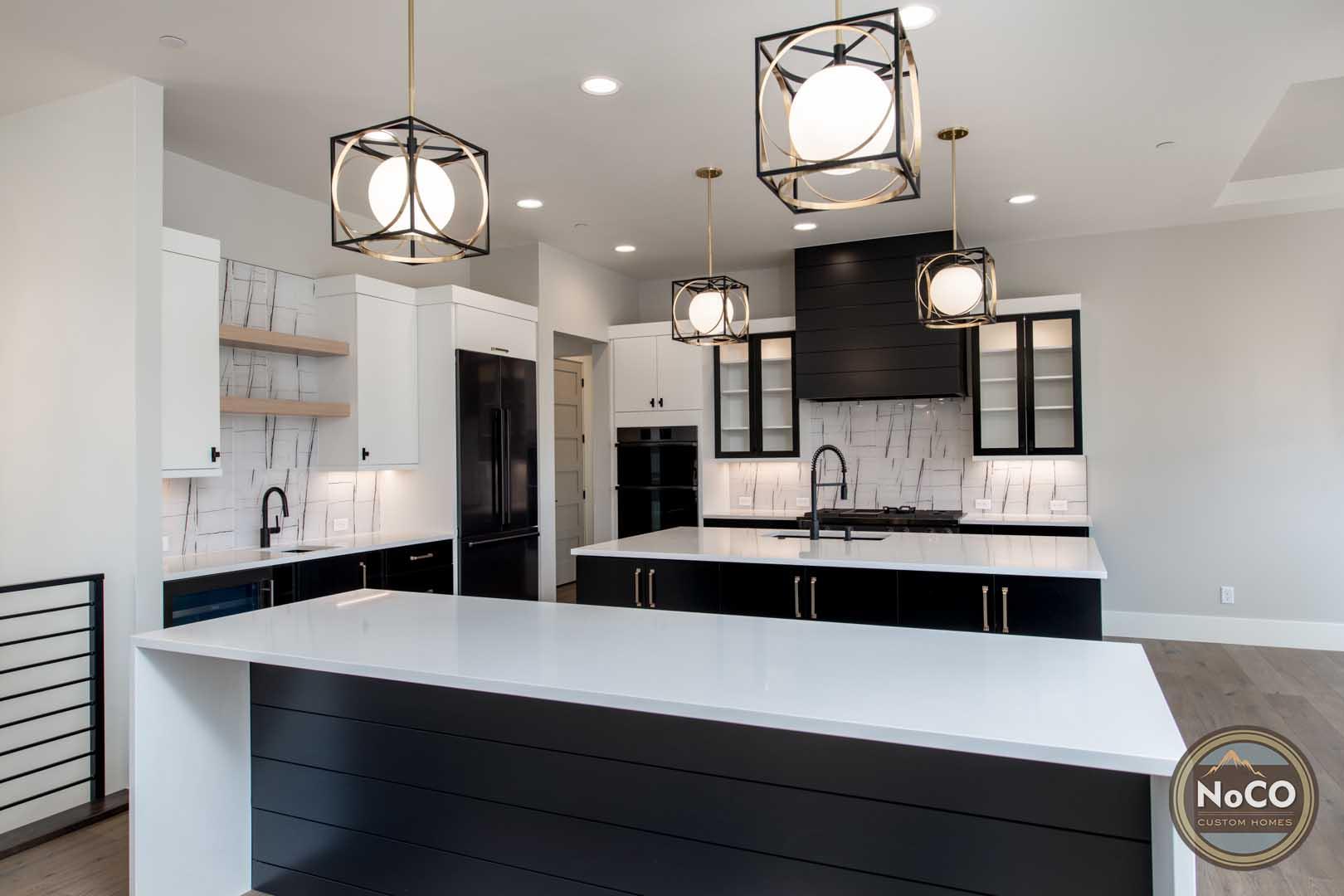 double kitchen islands colorado custom home