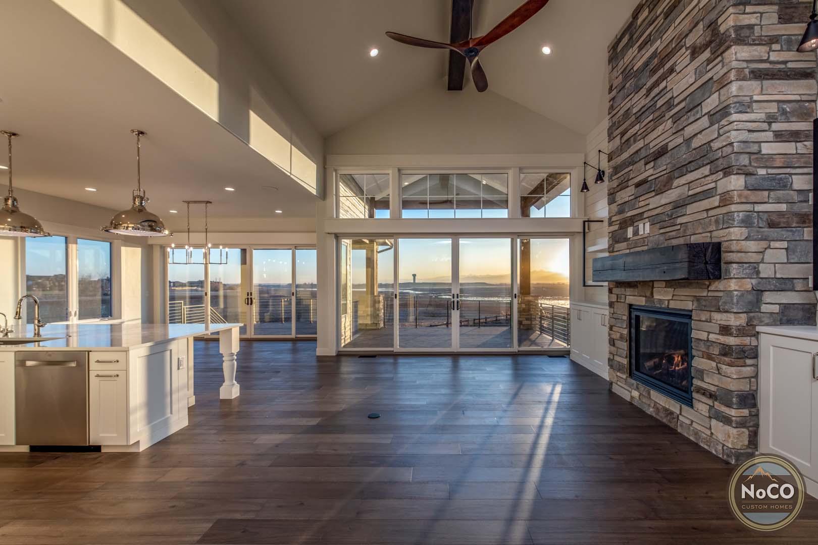 colorado custom home living room