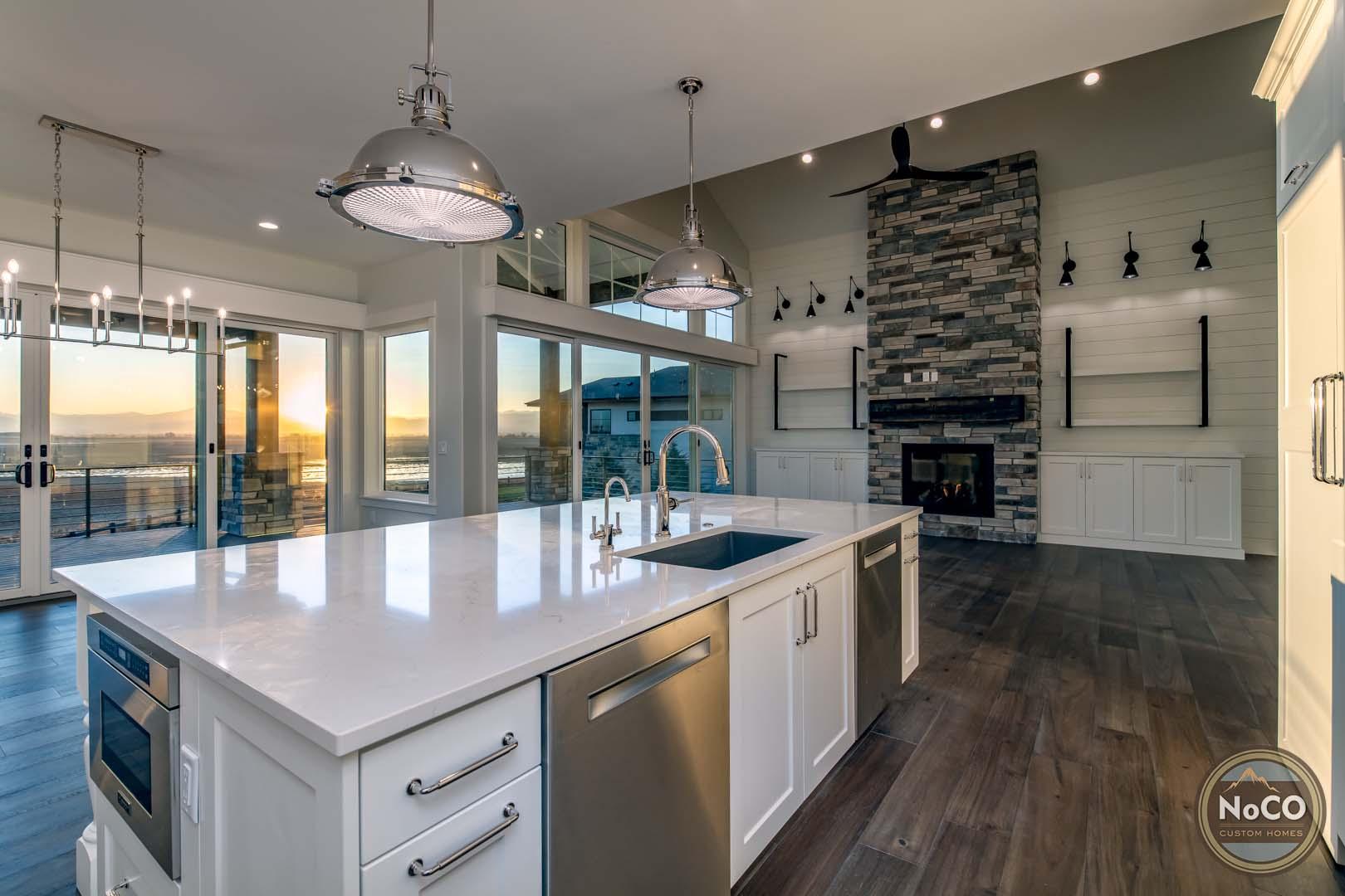 colorado custom home open concept living room