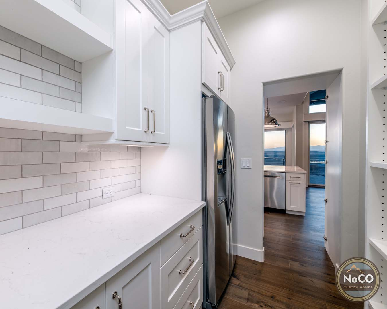 colorado custom home hidden pantry