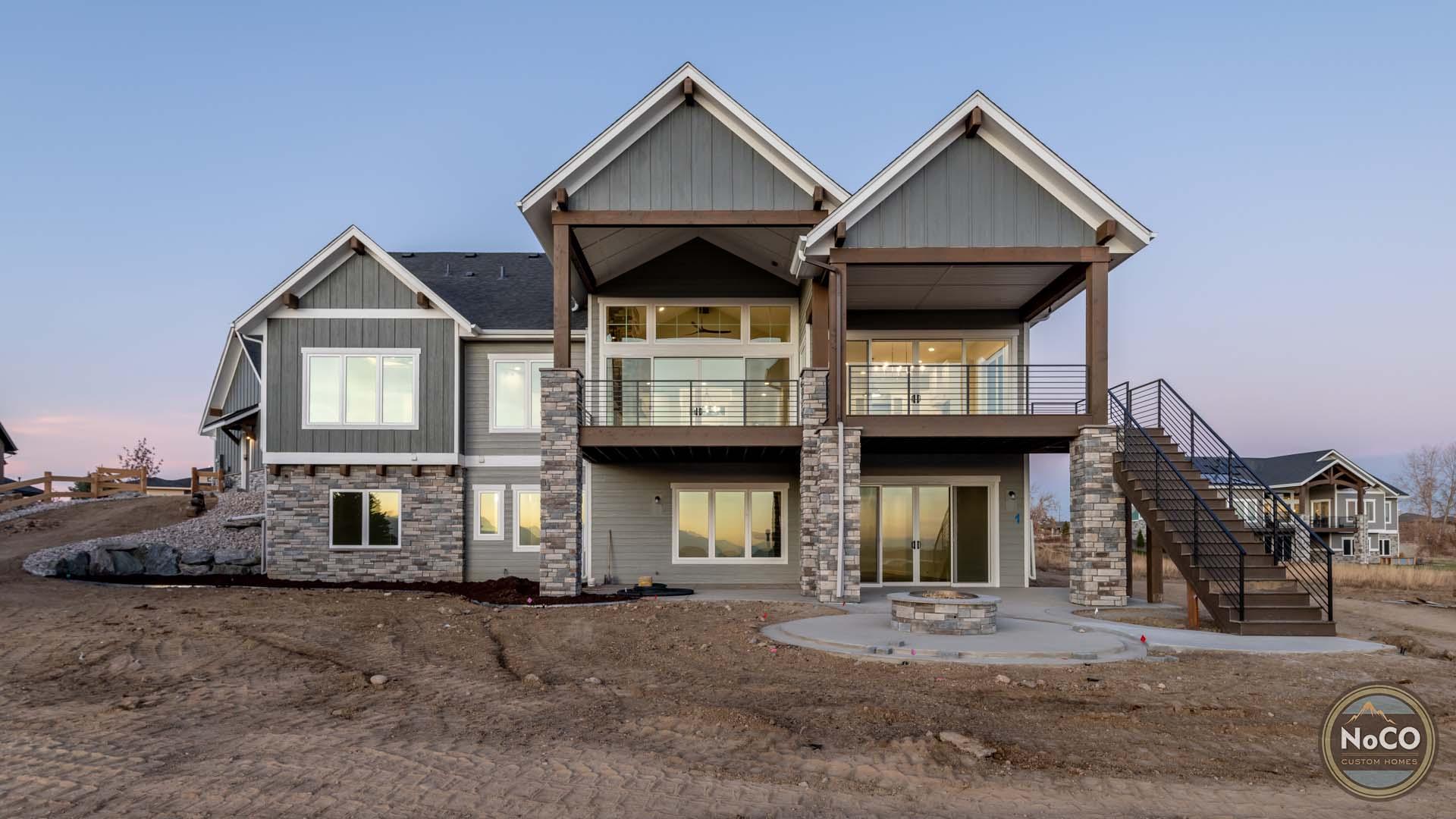 colorado custom home back deck