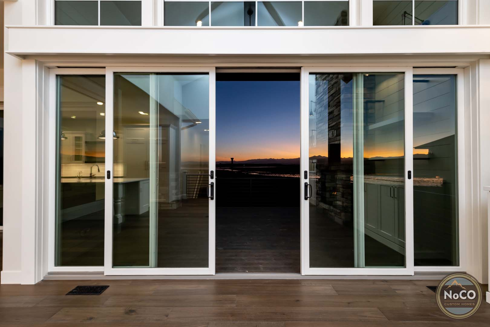 colorado back deck sliding glass door