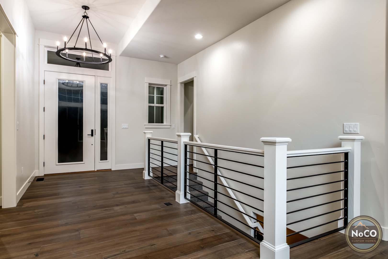 colorado custom home entryway