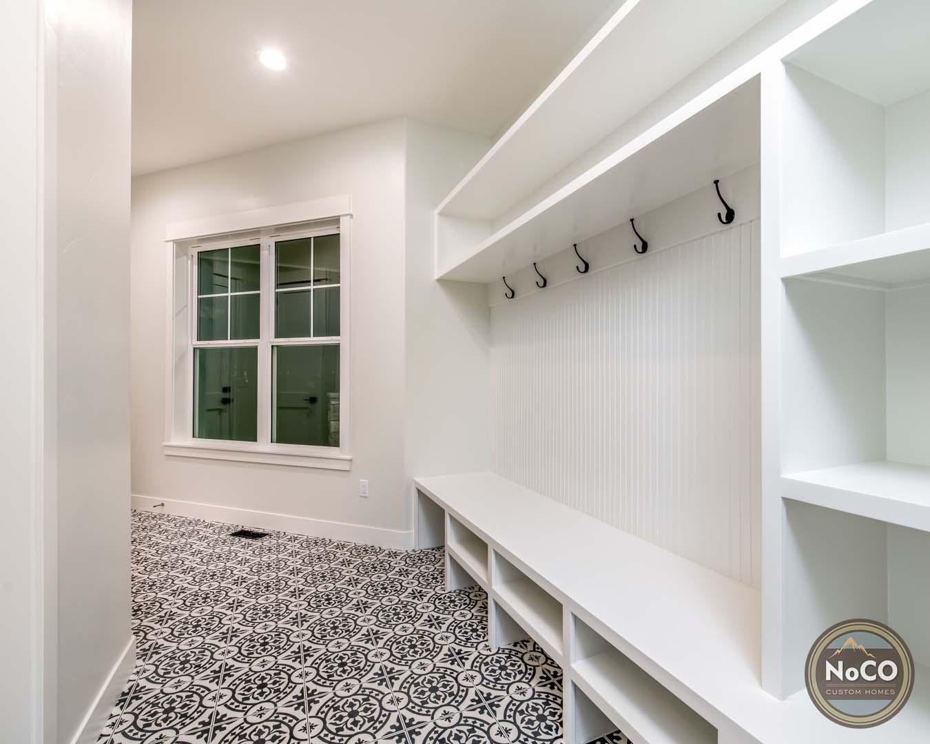 colorado custom home mudroom tile