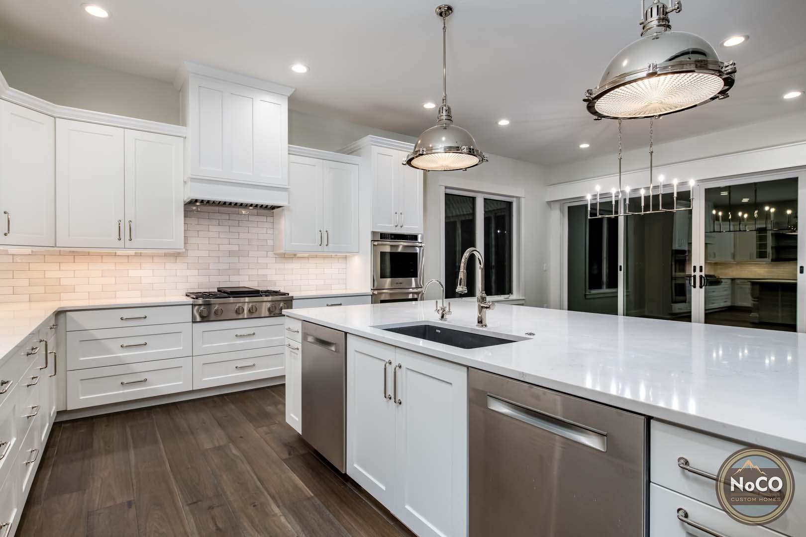 colorado custom home kitchen stainless steel appliances