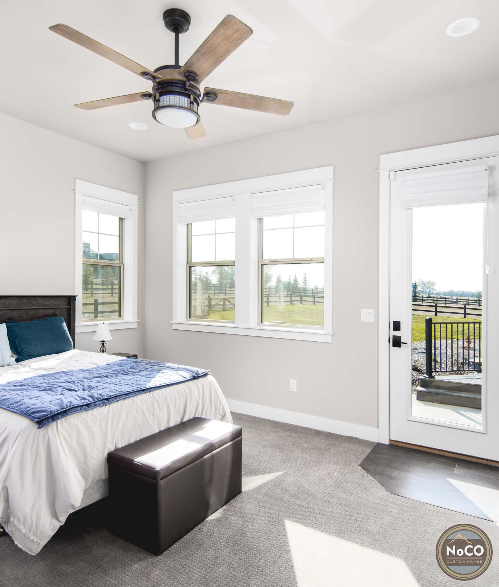 colorado custom home light bedroom