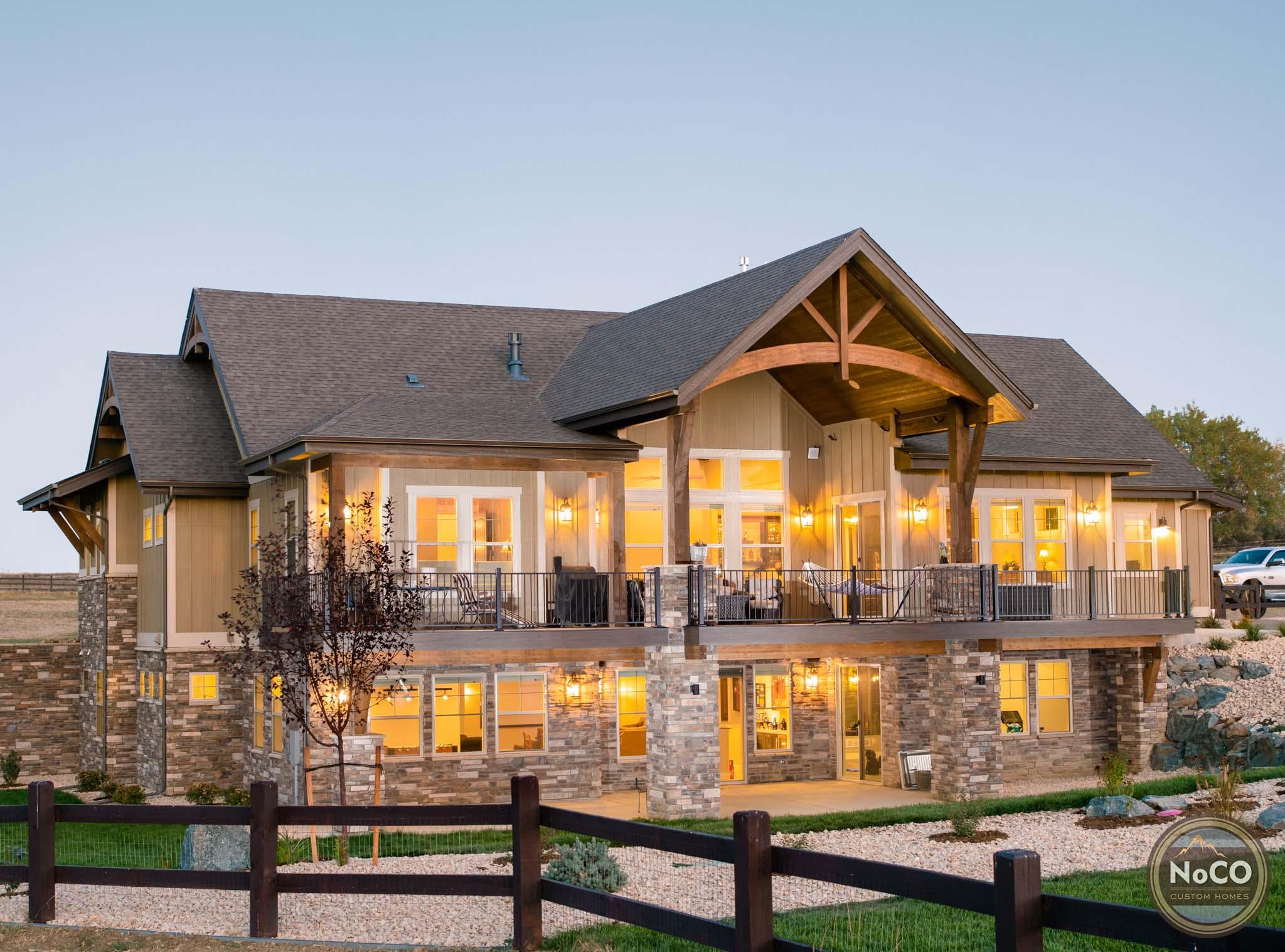 colorado custom home exterior reclaimed glamour
