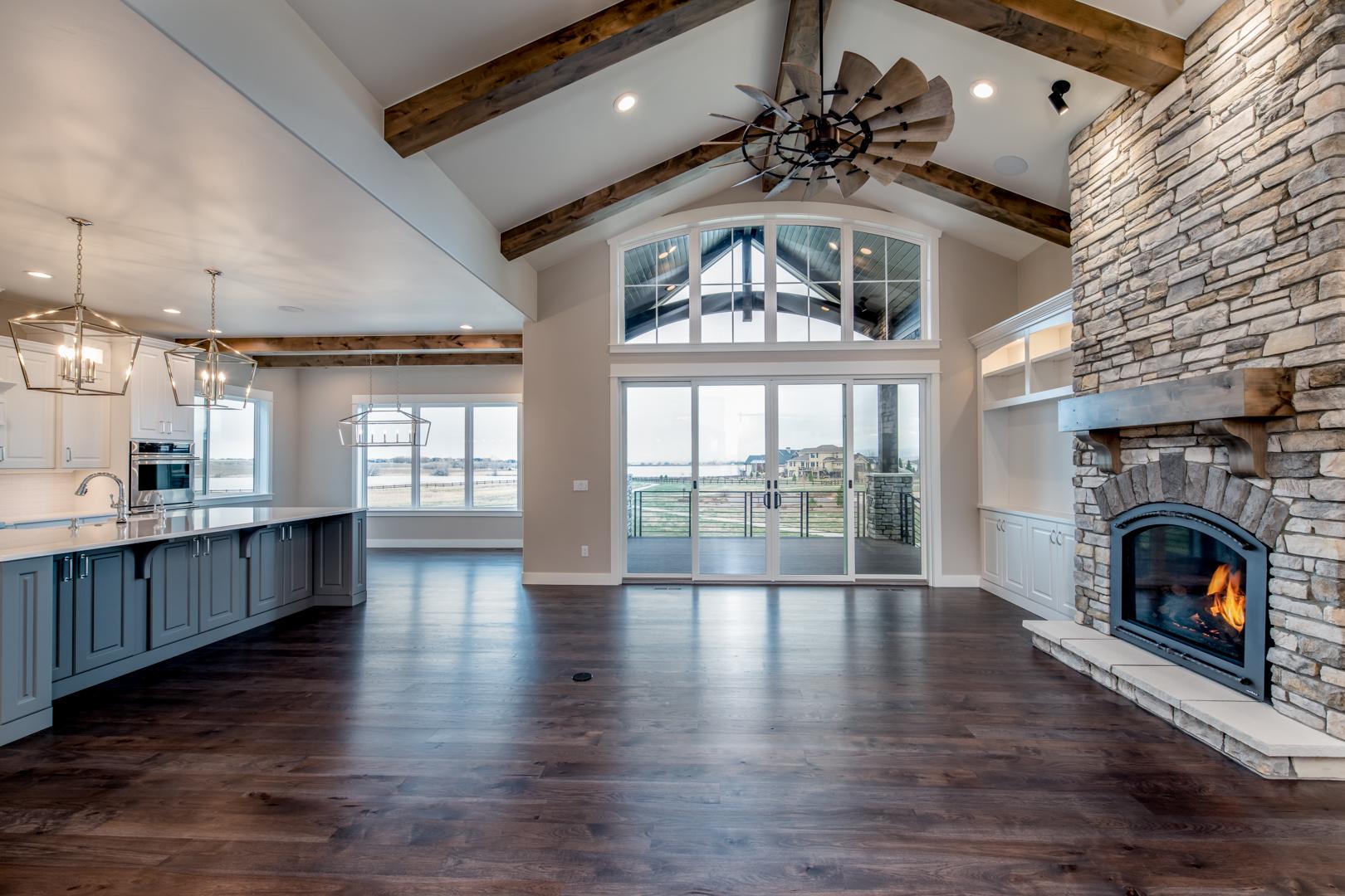 colorado transitional style home design